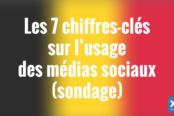 Belgique : les 7 chiffres-clés sur l'usage des médias sociaux (sondage)
