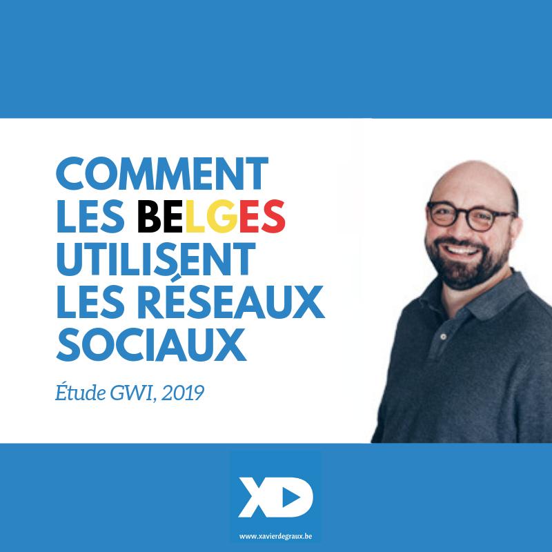Comment les Belges utilisent  les réseaux sociaux (étude GWI 2019)