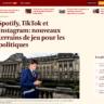 """""""Spotify, TikTok et Instagram: nouveaux terrains de jeu pour les politiques"""""""